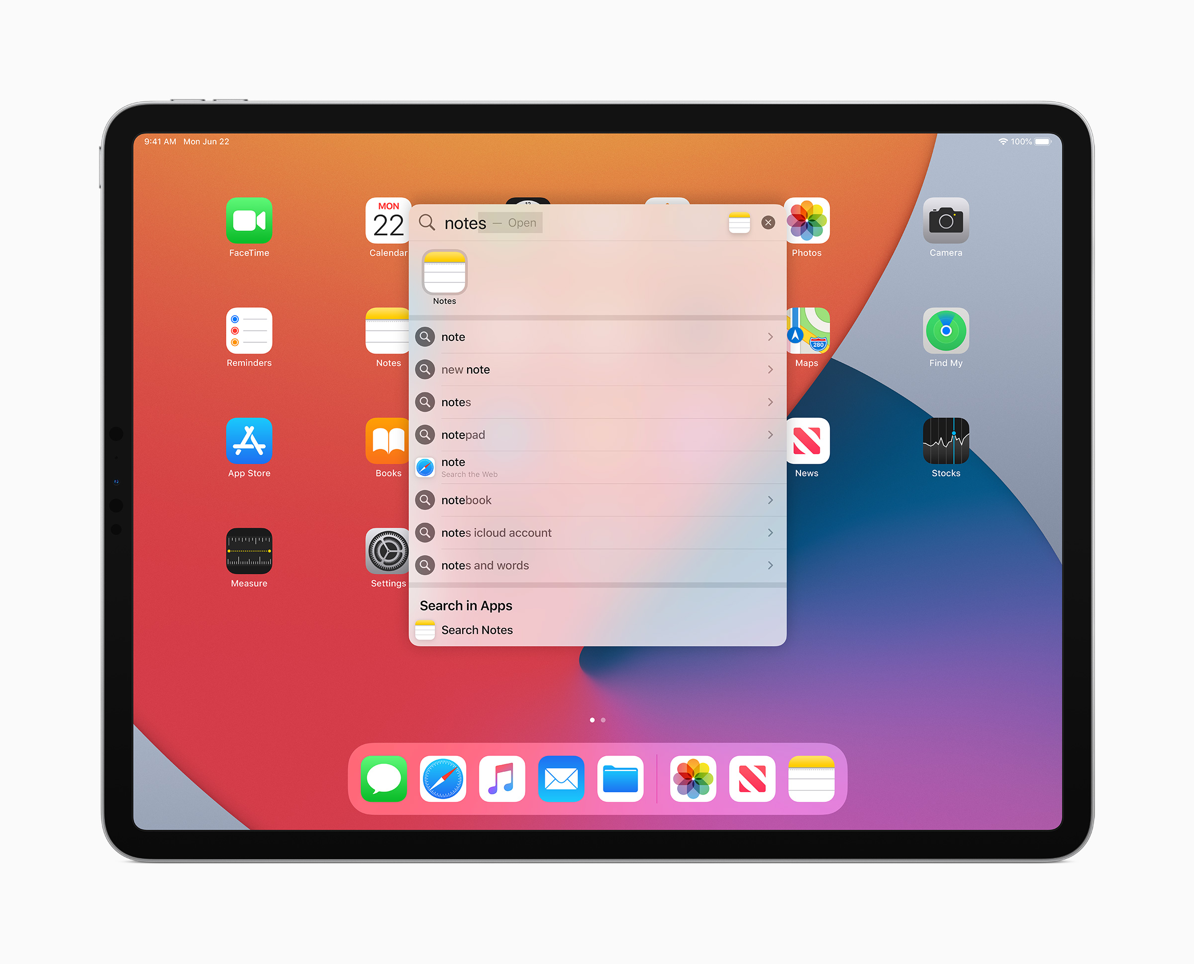 iPadOS 14 search bar new updates