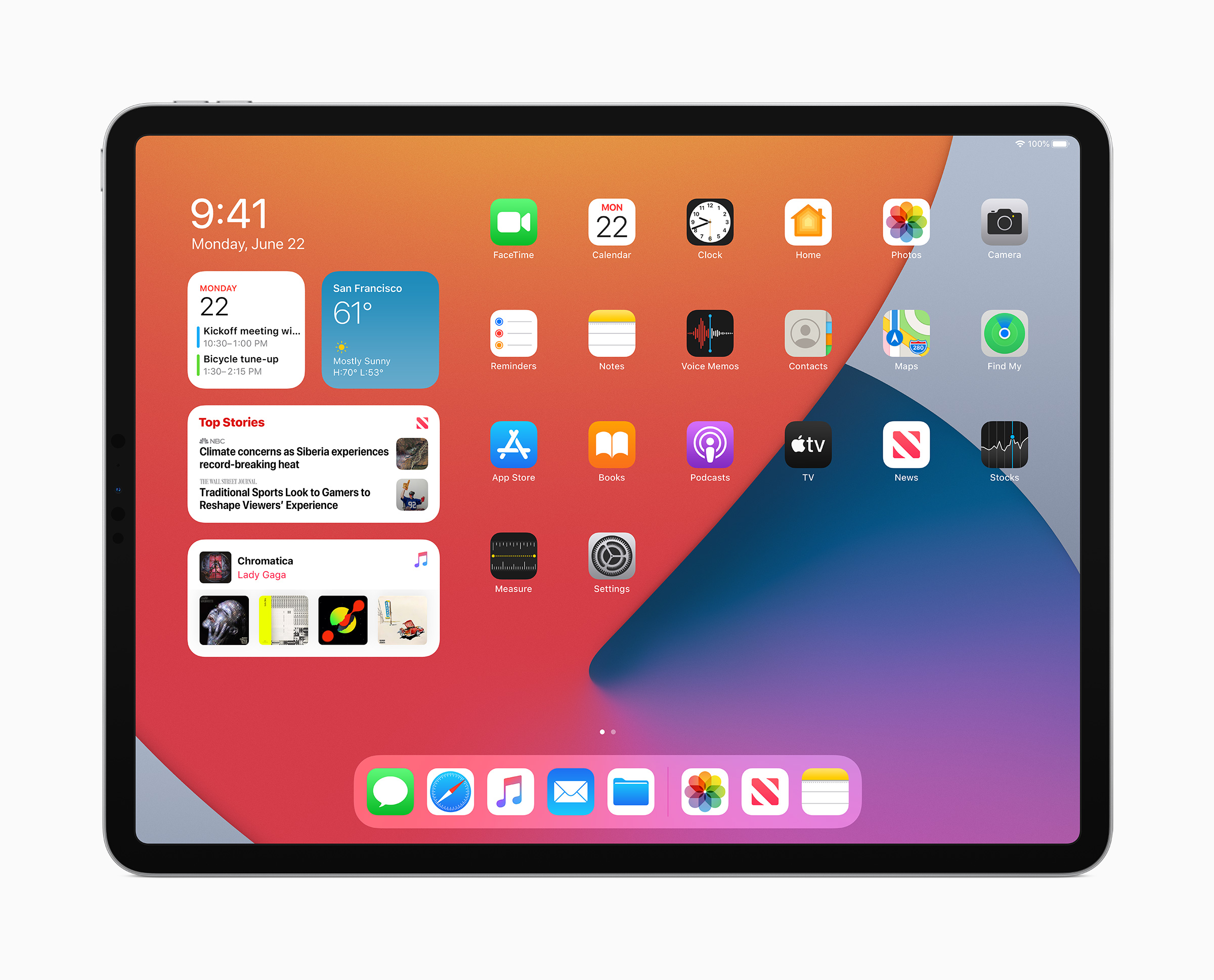 ipadOS 14 new widgets