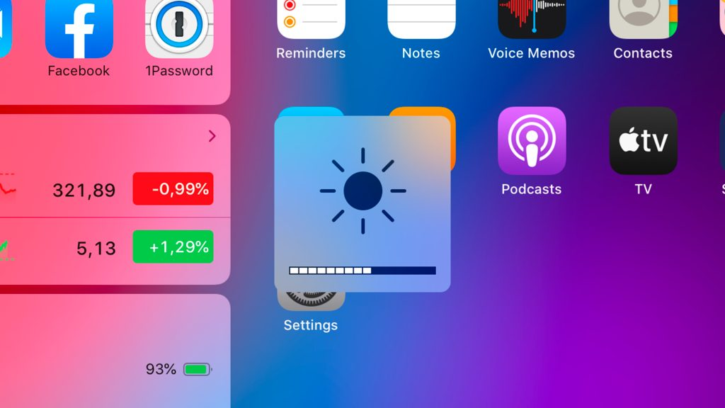 ipadOS brightness shortcut keys update