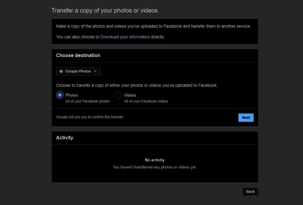 transfer-facebook-photos and-vidoes-to-google-photos-7