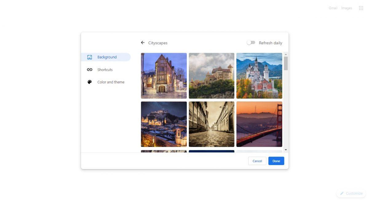 How to set google chrome background 3
