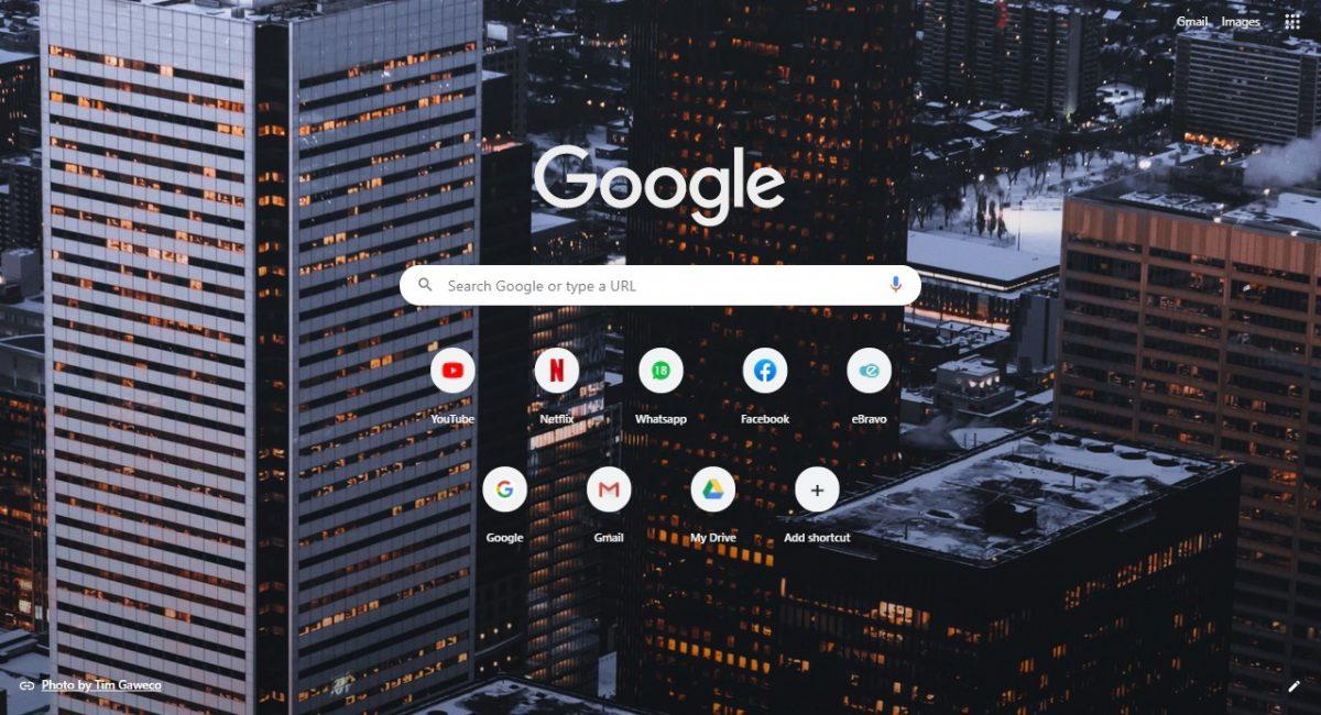 How to set google chrome background 4