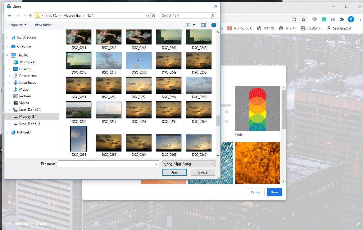 How to set google chrome background 5