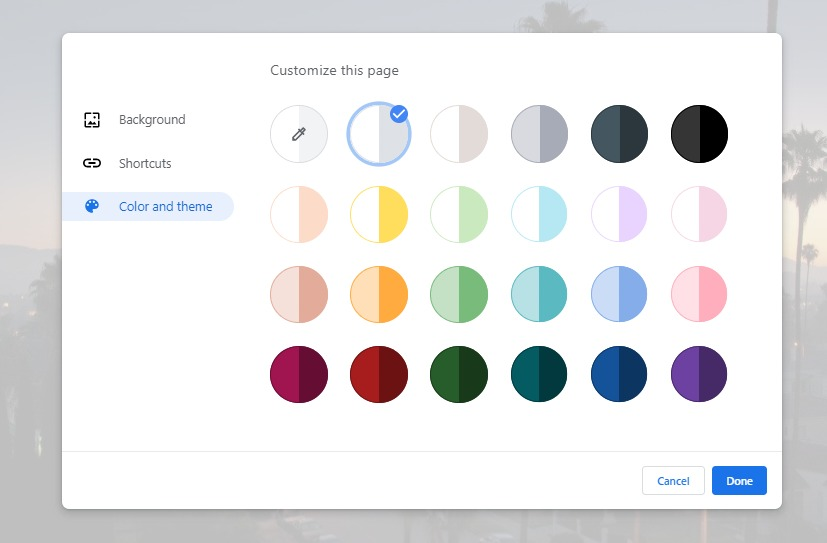 How to set google chrome background 6