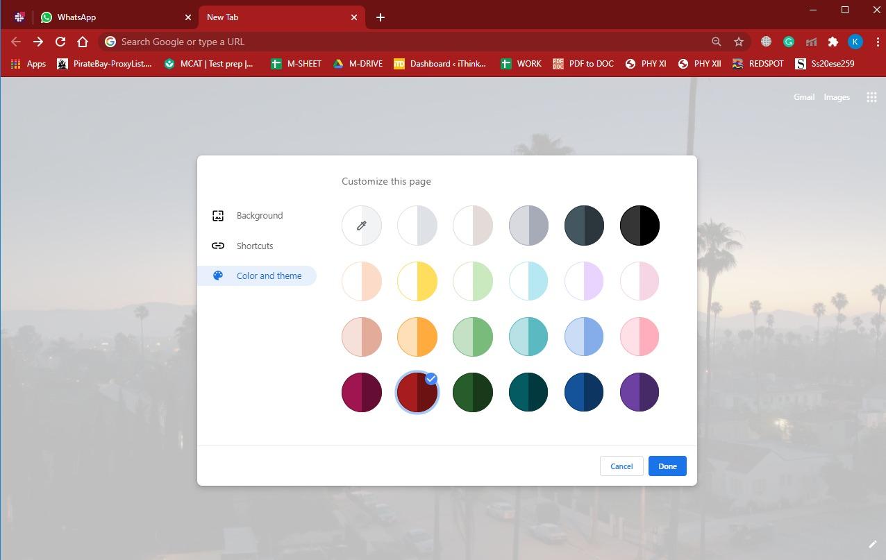 How to set google chrome background 7