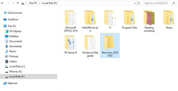 Windows file recovery tool options 1