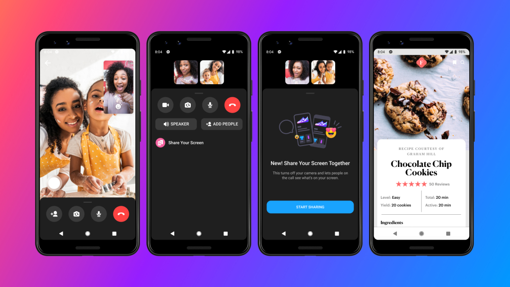 facebook messenger screen sharing feature 1