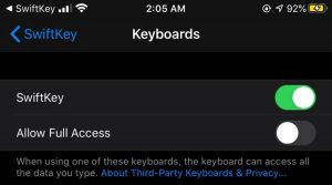 install third party keyboards on iphone 3