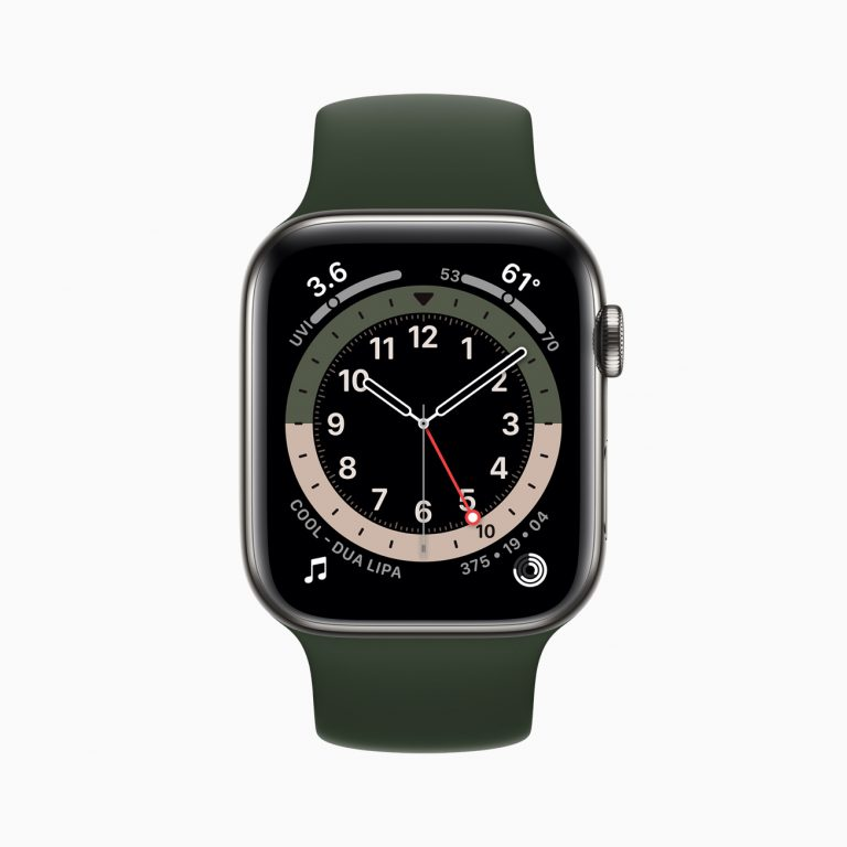 Apple watch series 6 stainless steel case gmt watchface 09152020